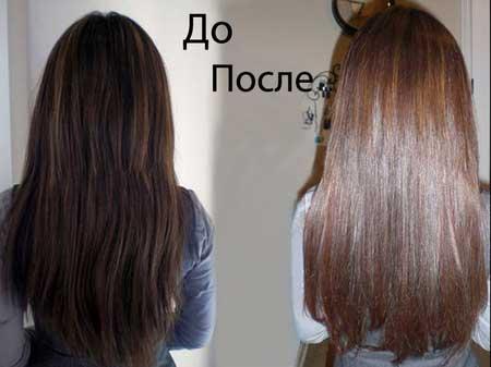 Использование бесцветной хня до и ...: hochuvolosy.ru/kraska-dlya-volos/kak-dobitsja-opredelennogo-ottenka...