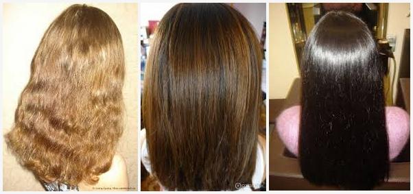 Результат окрашивания волос басмой