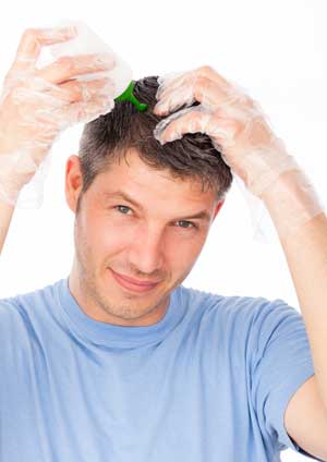Окрашивание седых волос