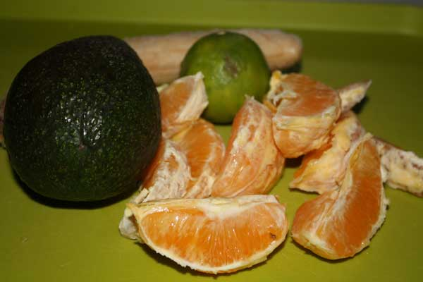 Апельсин, авакадо, лайм, банан