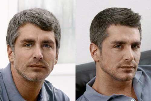 Мужчина до и после окрашивания