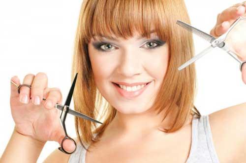Как подстричь  челку