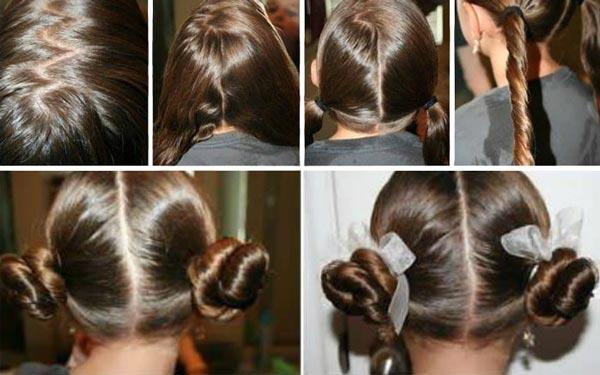 Бараночки из волос