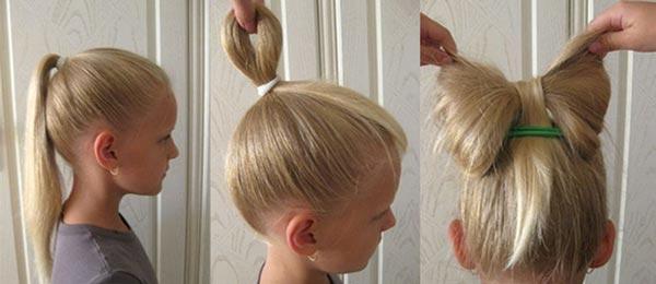 Прическа - бант из волос