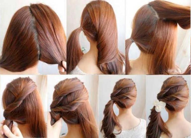 Быстрая и красивая прическа для длинных волос своими руками