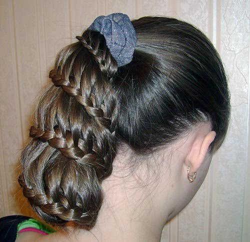 Плетение до самых волос