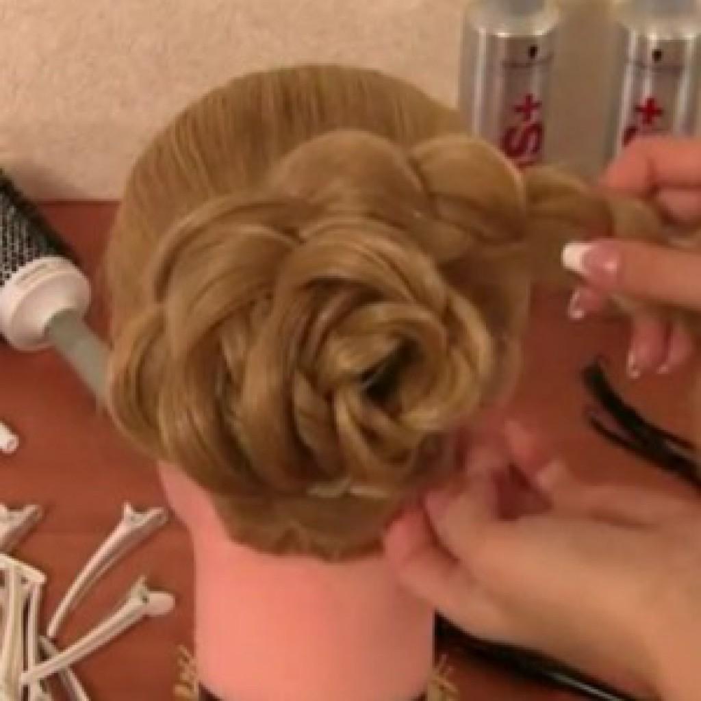 Причёски с цветами в волосах пошаговое фото