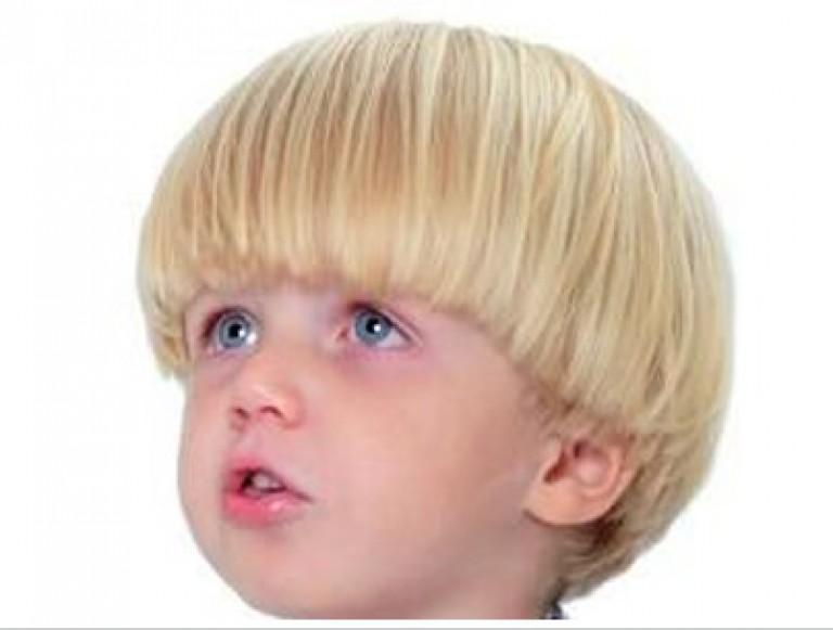Прическа горшок для мальчика