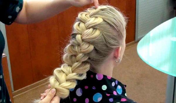 Классическая прическа -коса