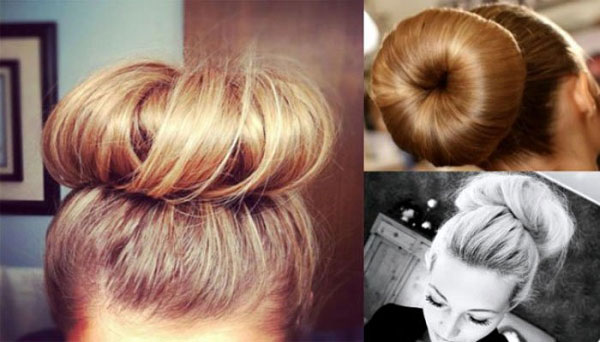 Пучок для длинных волос