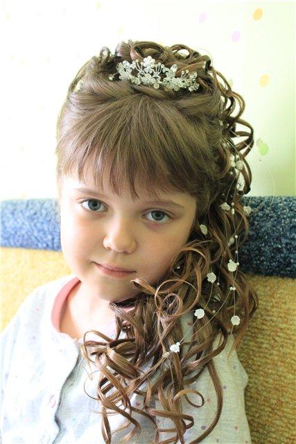 Причёска на выпускной в детском саду своими руками видео