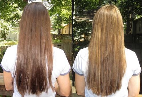 Результат осветления волос