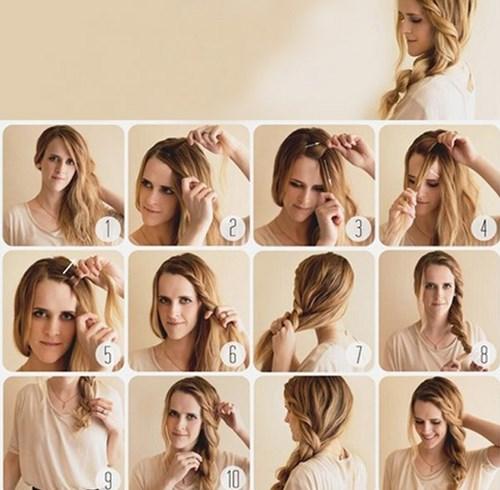 Прически в домашних условиях на средние волосы