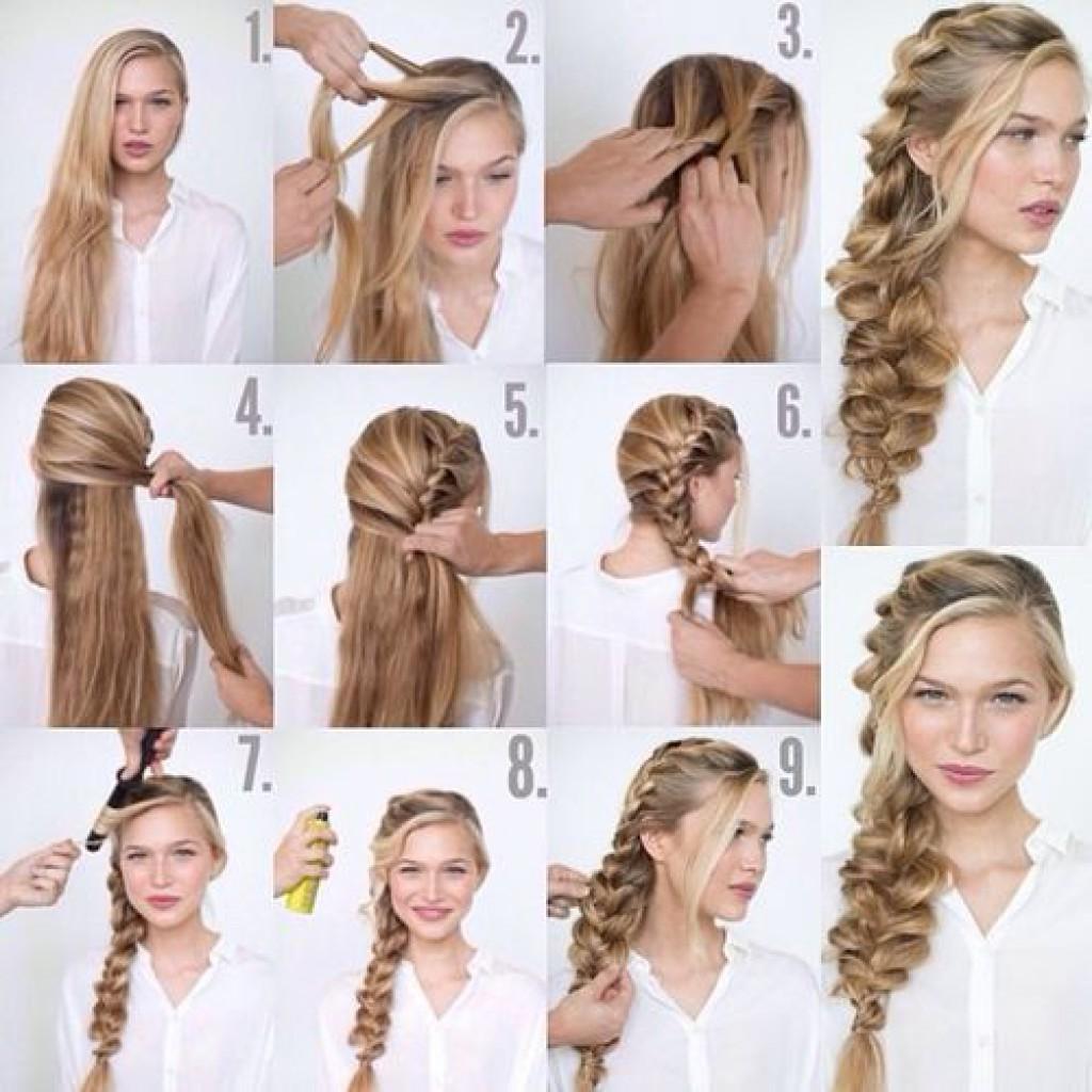 Прически с косами поэтапно на каждый день