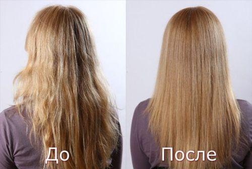 До и после применения масок