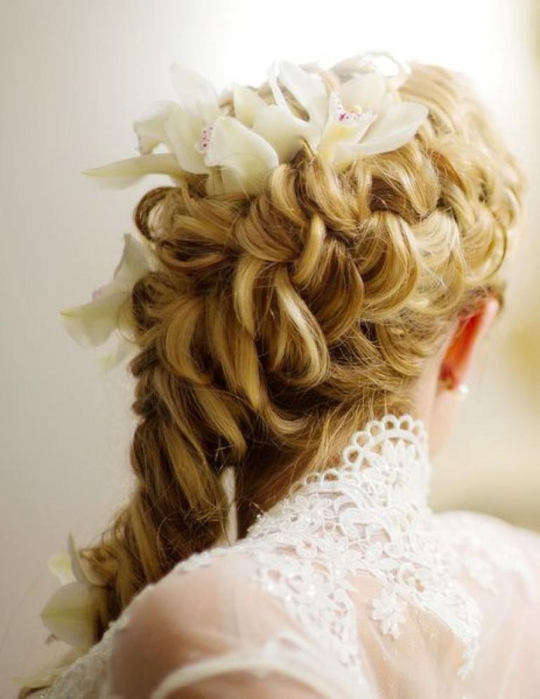 Свадебные прически косы волос